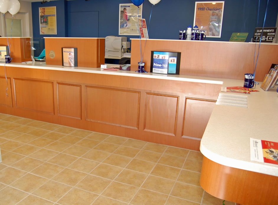 St. Edmond\'s Bank teller stations, Ardmore, PA