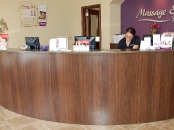 Massage Envy reception desk, Ardmore, PA