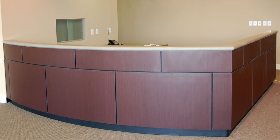 Grossman Medical Offices reception desk, Mt. Holly, NJ
