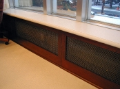 Campbell\'s Soup window sill and radiator cover